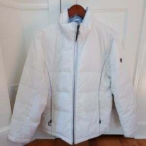 White winter or snowboarding/ski jacket.